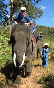 Bareback elephant day in Chang Mai Thailand