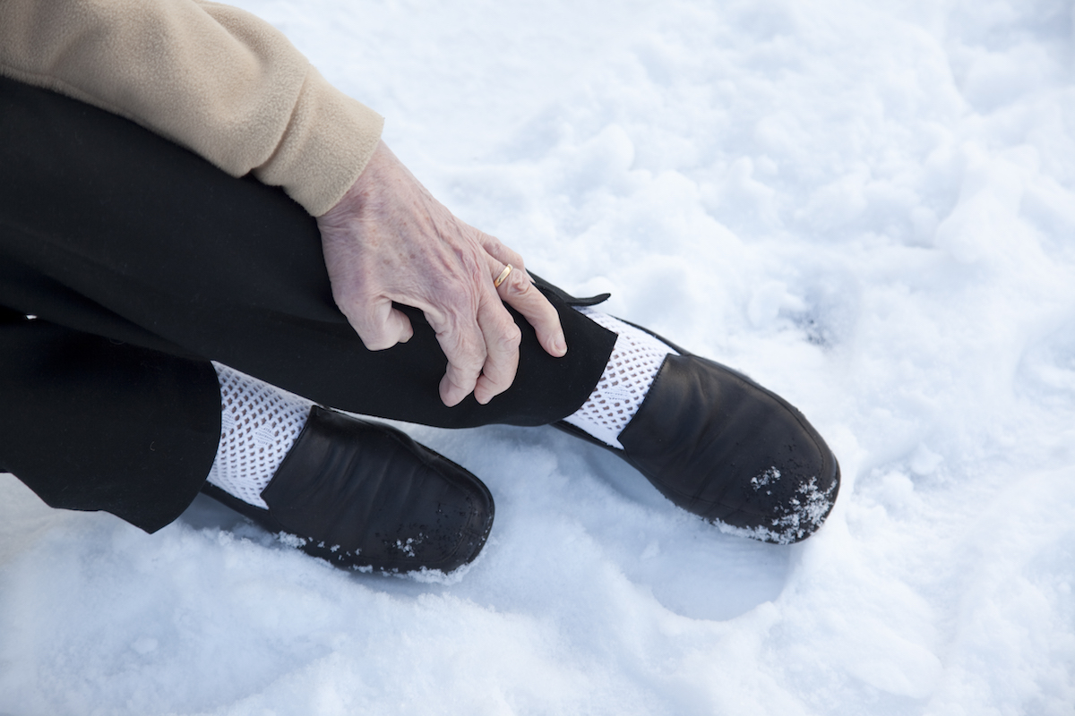 legs in snow