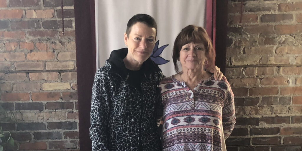 Susan Flansburg and yoga teacher
