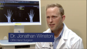 Dr. Winston Thumb Surgery (ORA Health Tip) Keyframe